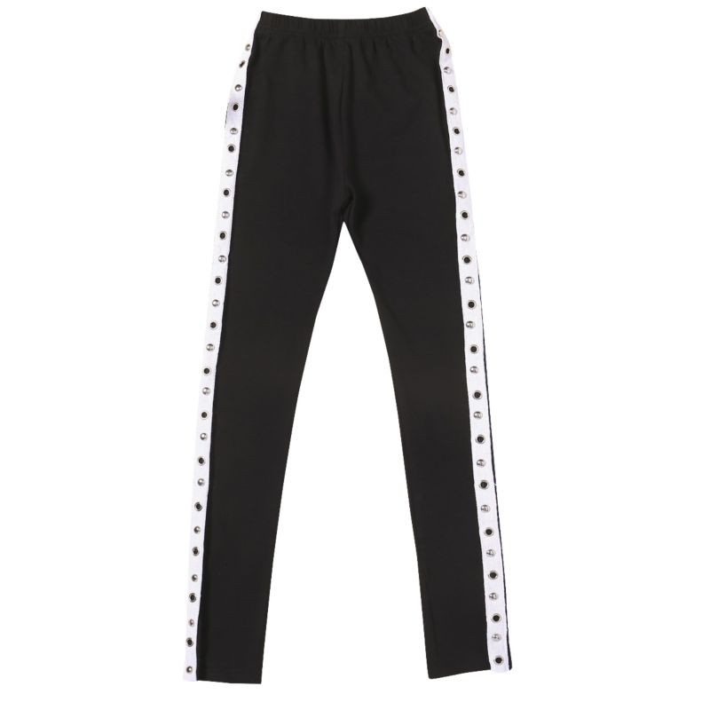 Chic Girls Side Holed Casual Long Pants