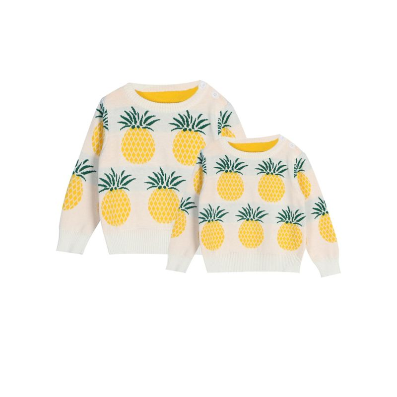 Mom & Me Pineapple Knitted Sweater for Spring