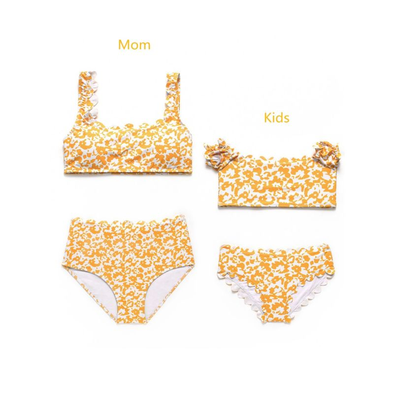 Mom & Me Fashion Flower Tankini Swimsuit