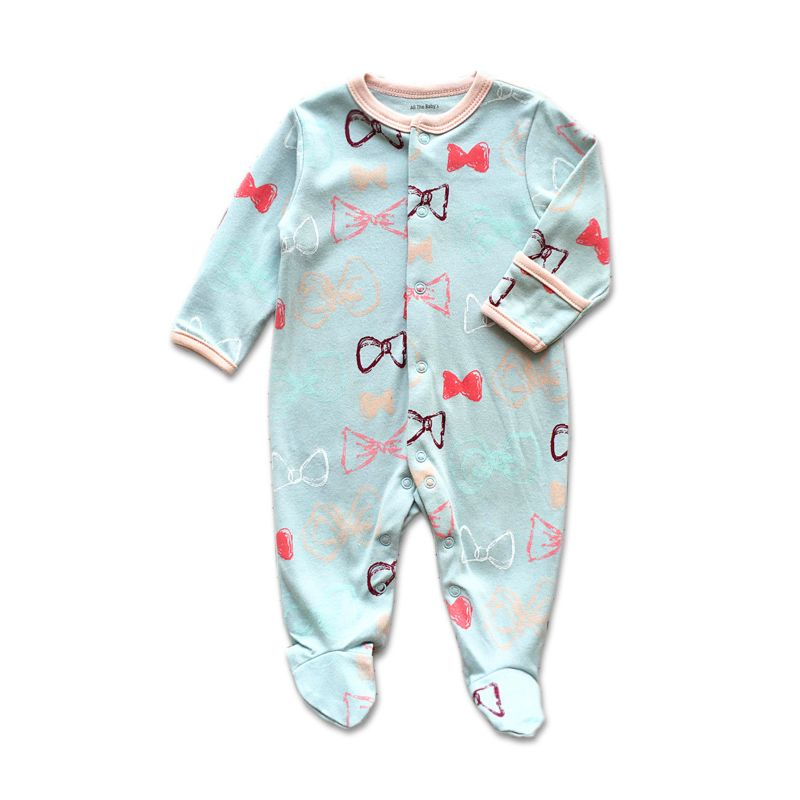 Newborn Baby Footed Pajama Jumpsuit
