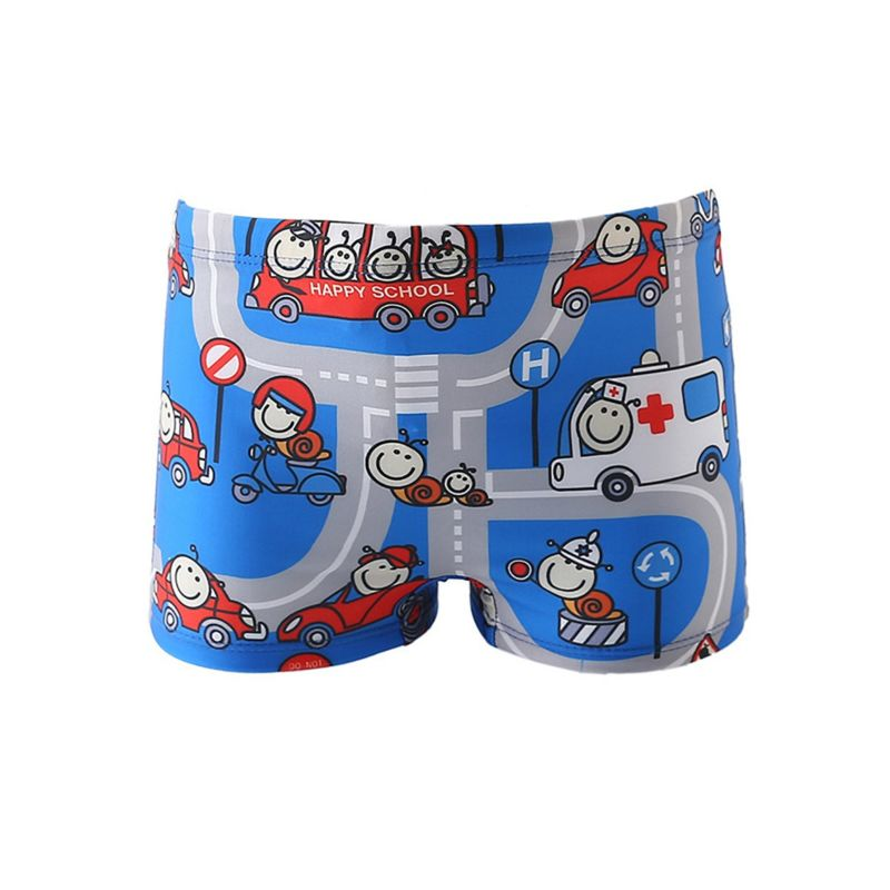 Cartoon Printed Baby Toddler Boys Swimming Trunks