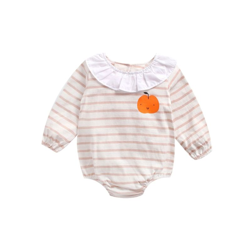 Spring Stripe Baby Toddler Girl Romper Bodysuit