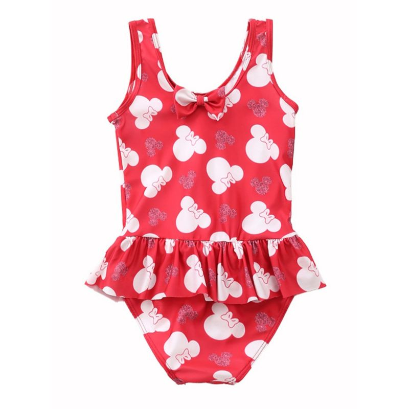 Stylish Baby Little Girl Frilled Printed One Piece Swimming Suit