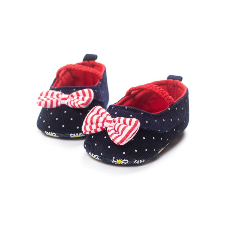 Spring Cute Bow Polka Dots Baby Girl Pre-walker Shoes