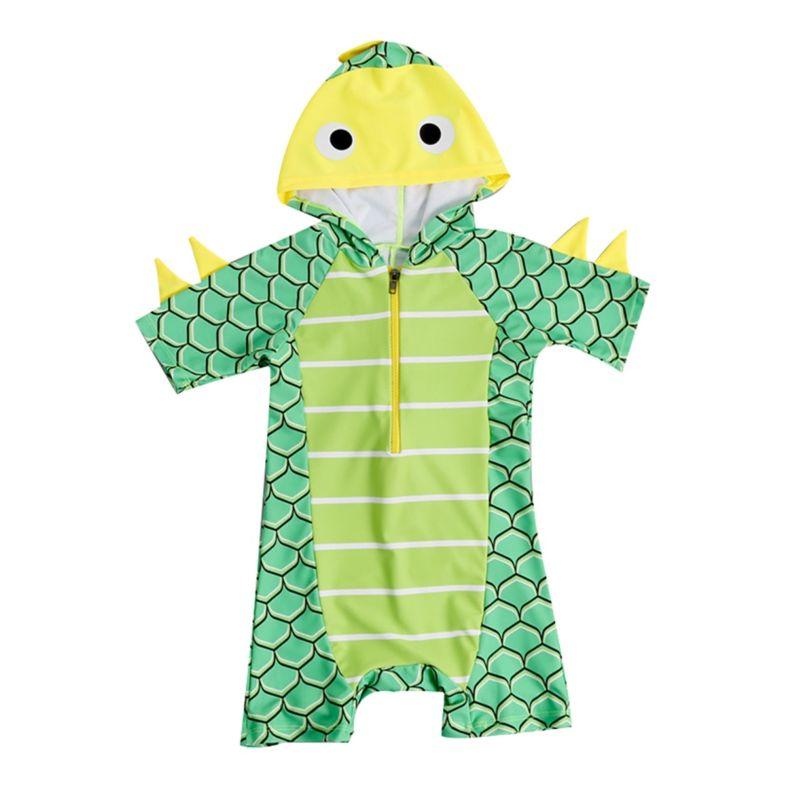 Toddler Little Boy Cartoon Dinosaur Swimsuit