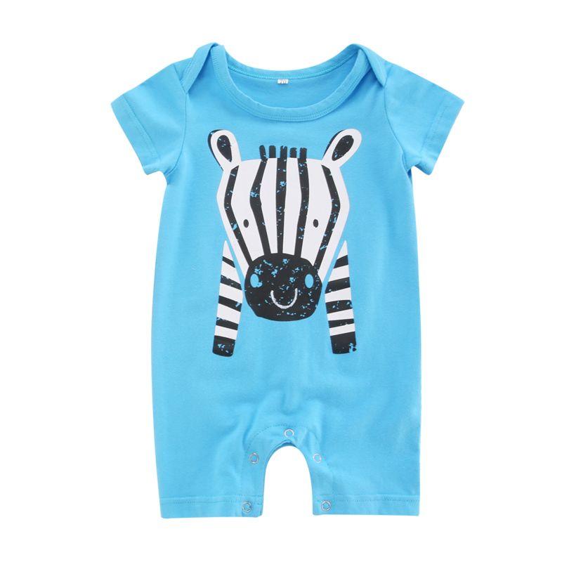 Summer Cartoon Zebra Baby Romper