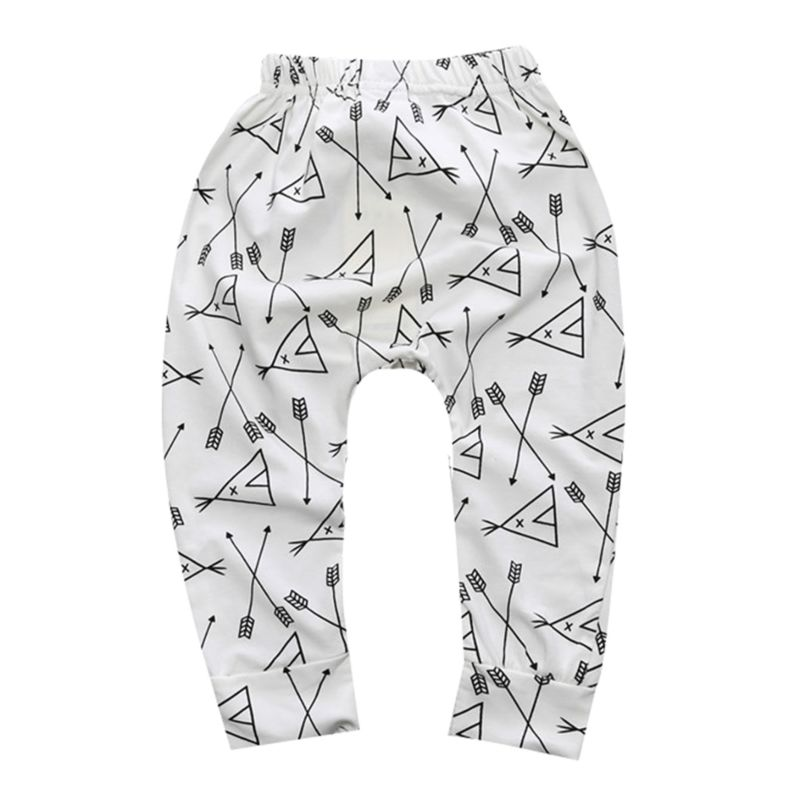 Spring Summer Infant Boys Girls Printed Casual Pants