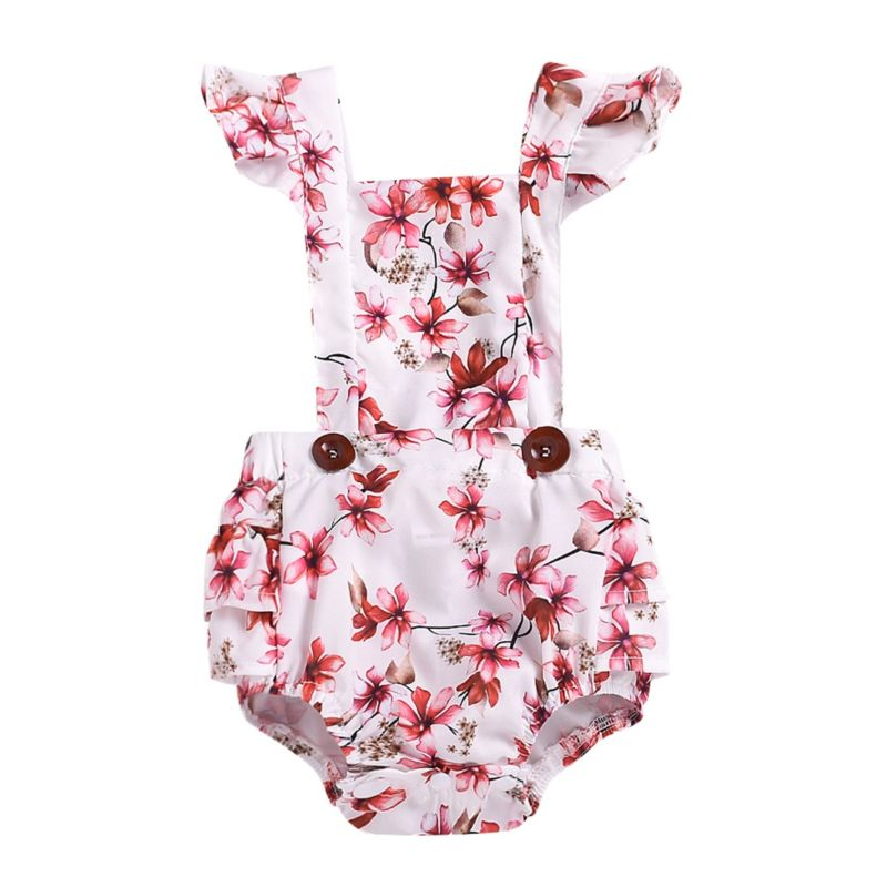 Summer Baby Girl Flower Romper Bodysuit