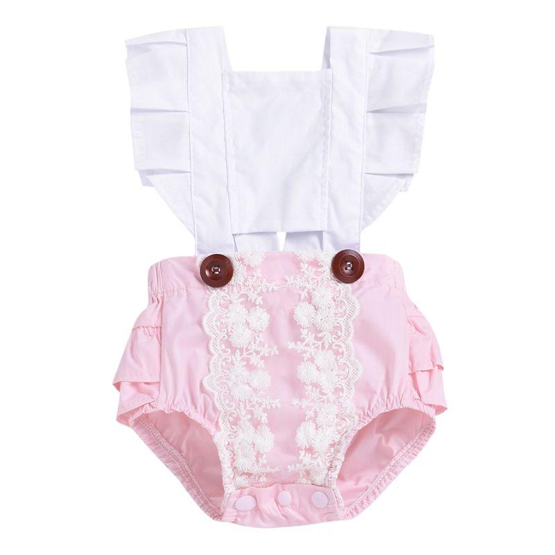 Summer Baby Girl Lace Frilled  Romper Bodysuit