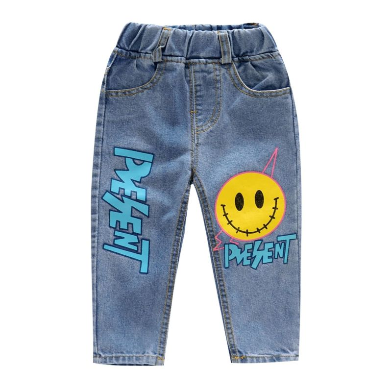 Baby Little Big Girl Big Smile Jeans