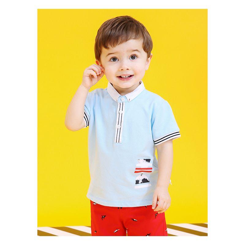 Summer Baby Little Boy Printed Polo T-shirt