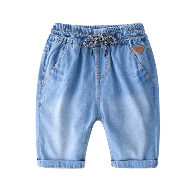 5-PACK Summer Toddler Big Boy Casual  Denim Shorts with Drawstring