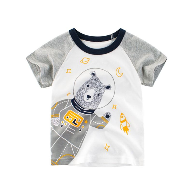 Cute Cartoon Bear Toddler Big Boys T-shirt