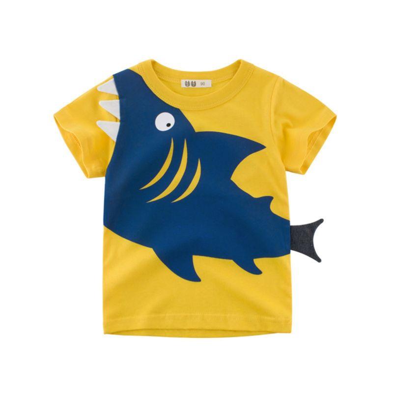 Little Big Boys Shark Pattern Cotton T-shirt