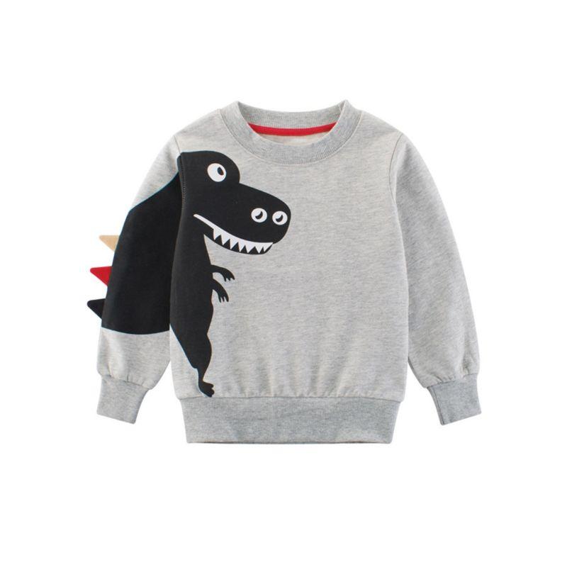 Spring Stylish Toddler Big Boys Dinosaur Pattern Jumper Pullover