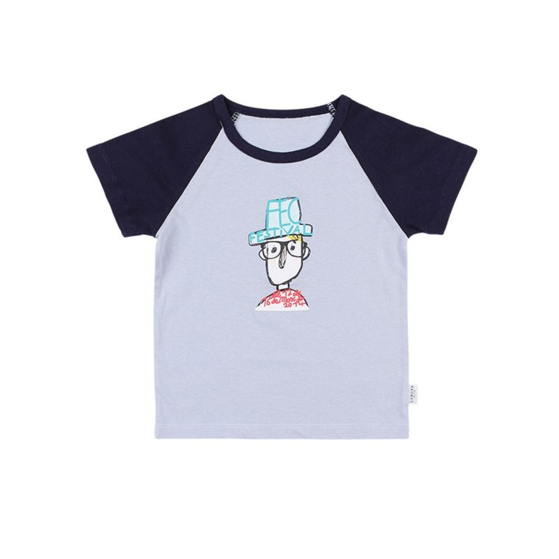 Summer Baby Little Kids Color Blocking Cartoon Print T-shirt