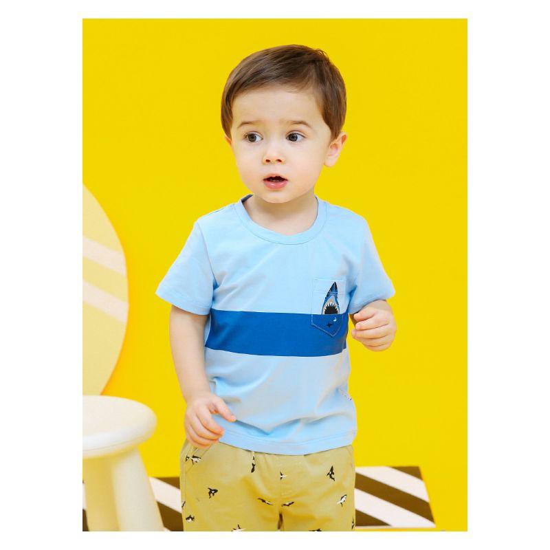 Summer Infant Little Boys Color-blocking Shark T-shirt