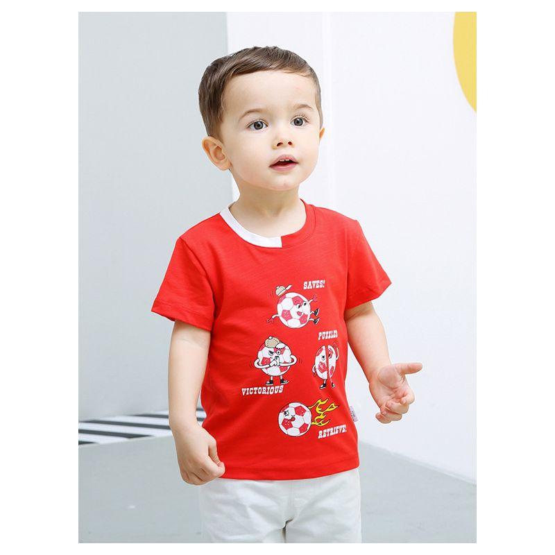 Infant Toddler Boys Football Letters Print T-shirt
