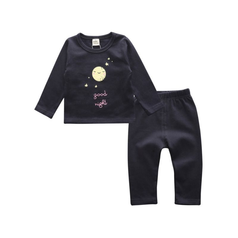 2-Piece Baby Toddler Little Kids Unisex Homewear Sleepsuit Set Pullover+Pants