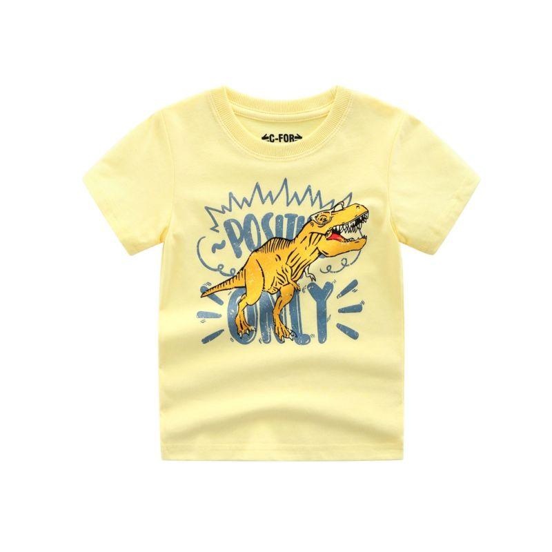 5-Pack Summer Toddler Little Boys Dinosaur T-shirt