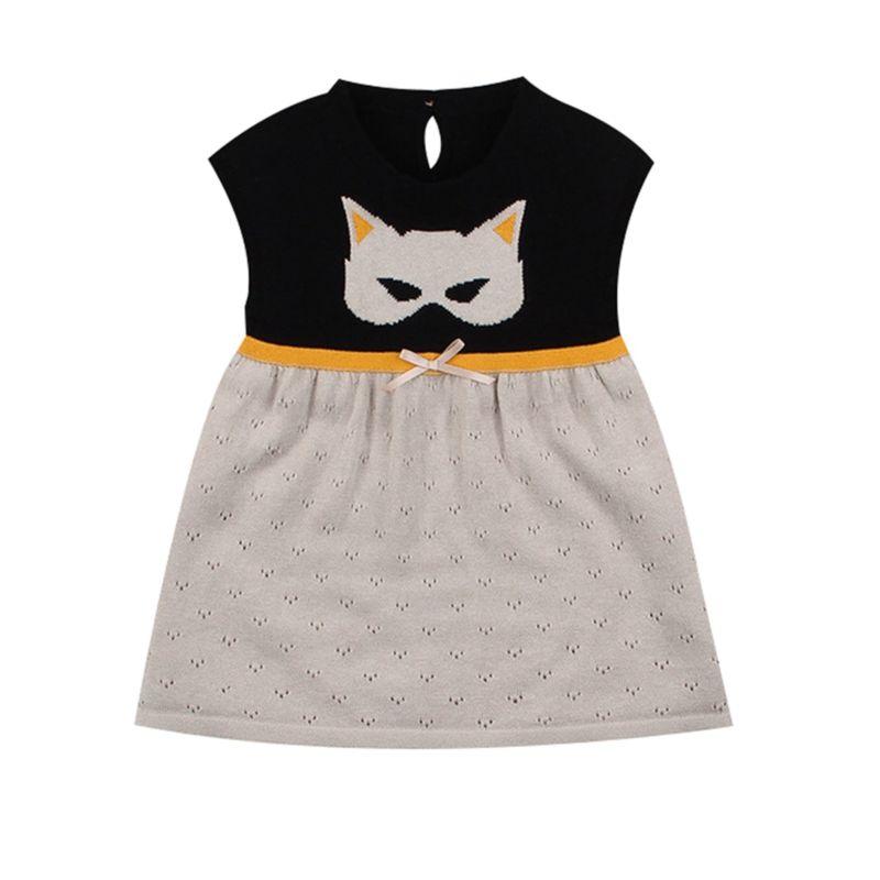 Spring Summer Cartoon Animal Crochet Baby Little Girl Shift Dress