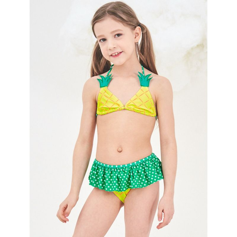 2-Piece Toddler Big Girl Pineapple Pattern Bikini