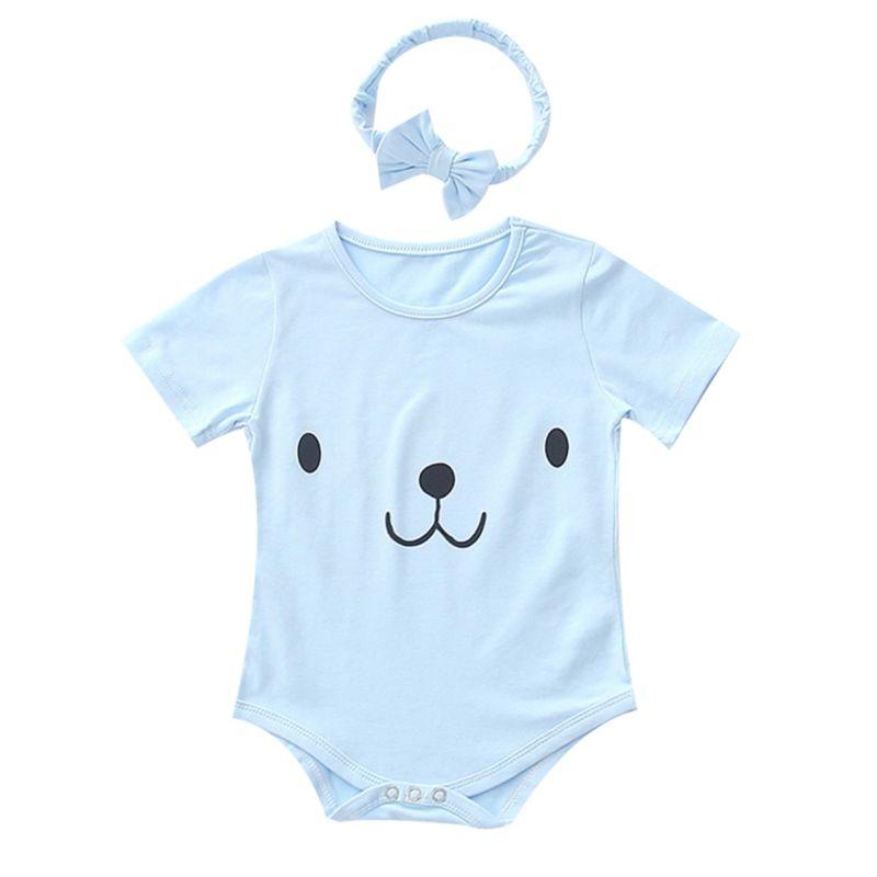aee592d29330 Wholesale 2-Piece Summer Bear Pattern Infant Bodysuit