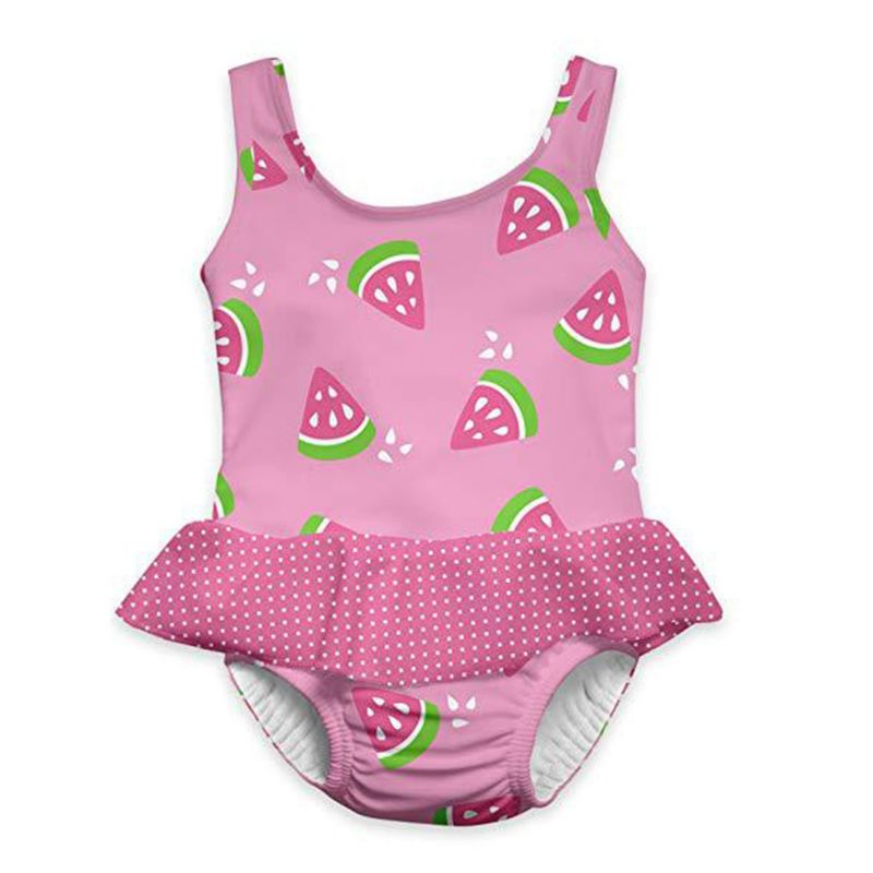 Printed Frilled Toddler Baby Girl One Piece Swimming Suit