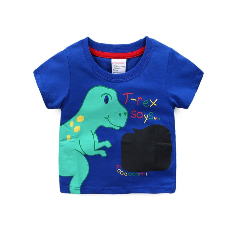 6-PACK Summer Big Little Boy Cartoon Dinosaur T-shirt