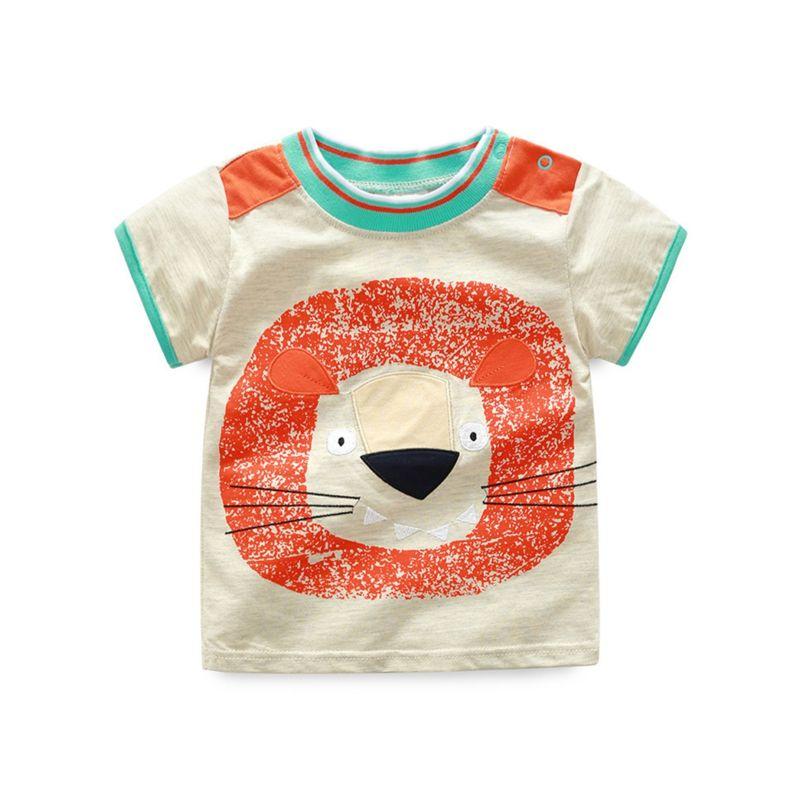 Summer Little Baby Boy Cartoon Animal T-shirt