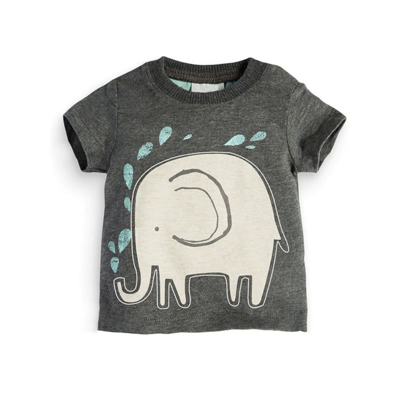 6-PACK Summer Big Little Kids Elephant T-shirt