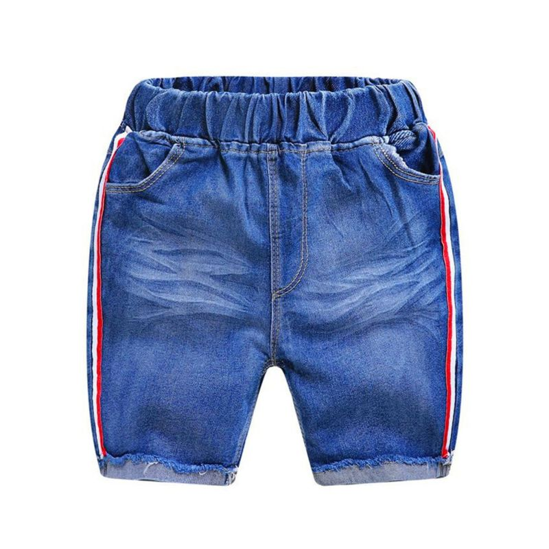 Big Little Boy Stripe Denim Short Pants