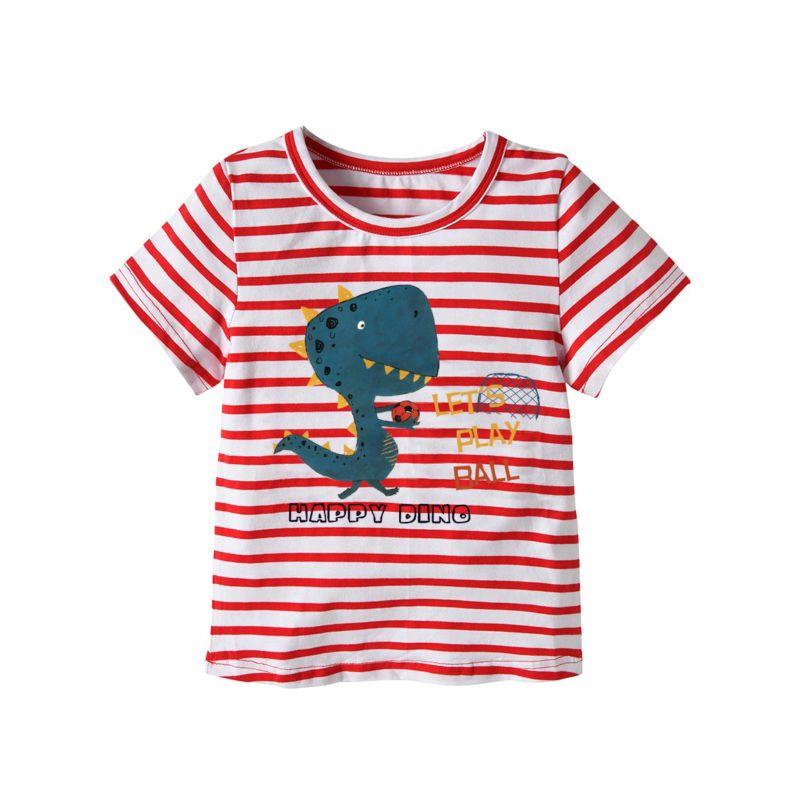 Cartoon Dino Little Big Kids Cotton T-shirt