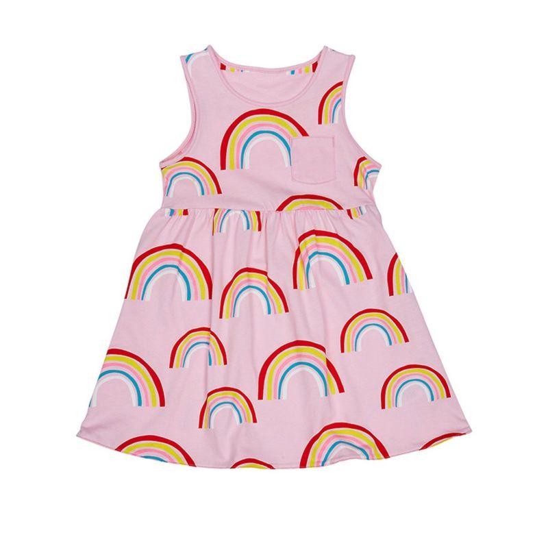 6-PACK Baby Little Girl Rainbow Sleeveless Dress