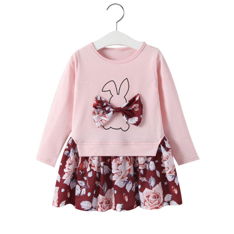Spring Toddler Baby Girl Bunny Flower Easter Dress