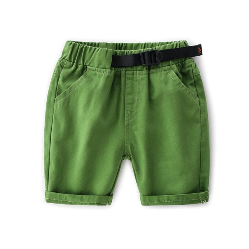 5-PACK Solid Color Toddler Little Kids Pull-on Shorts