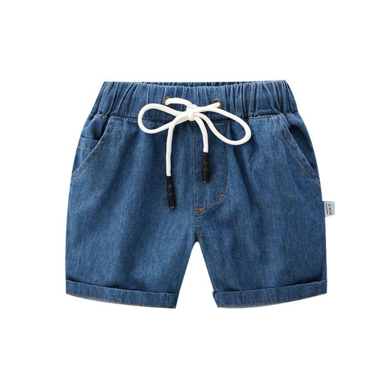 5-PACK Toddler Big Boys Blue Short Jeans with Drawstring