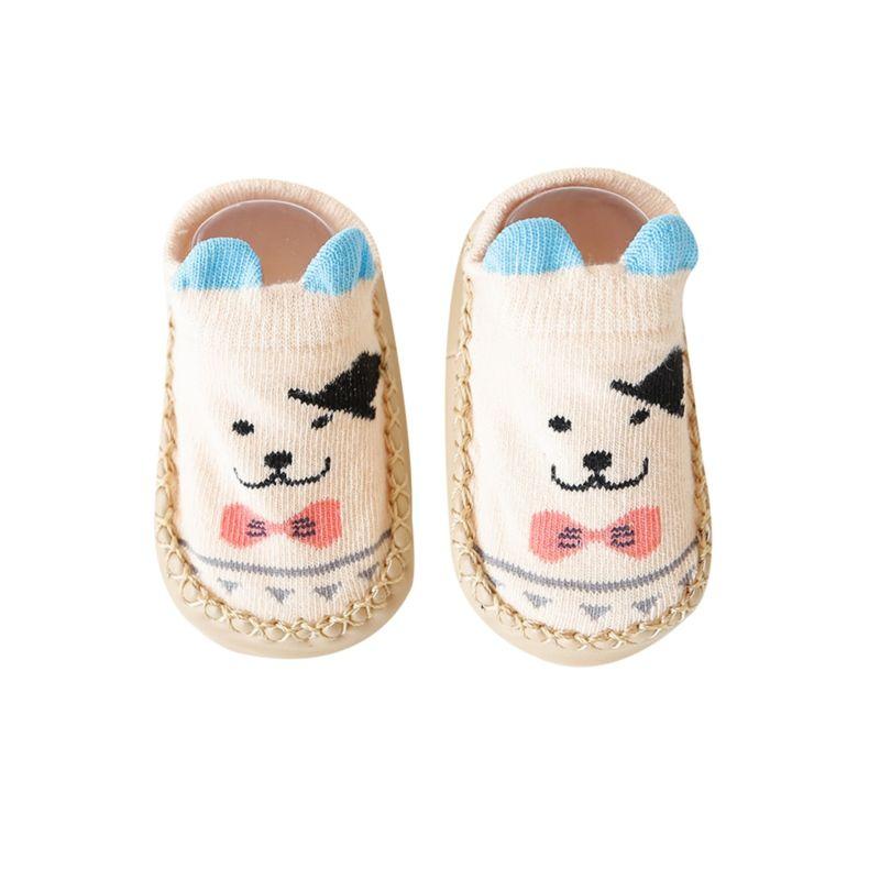 3-PACK Cute Floor Walking Standing Animal Pattern Non-slip Baby Socks