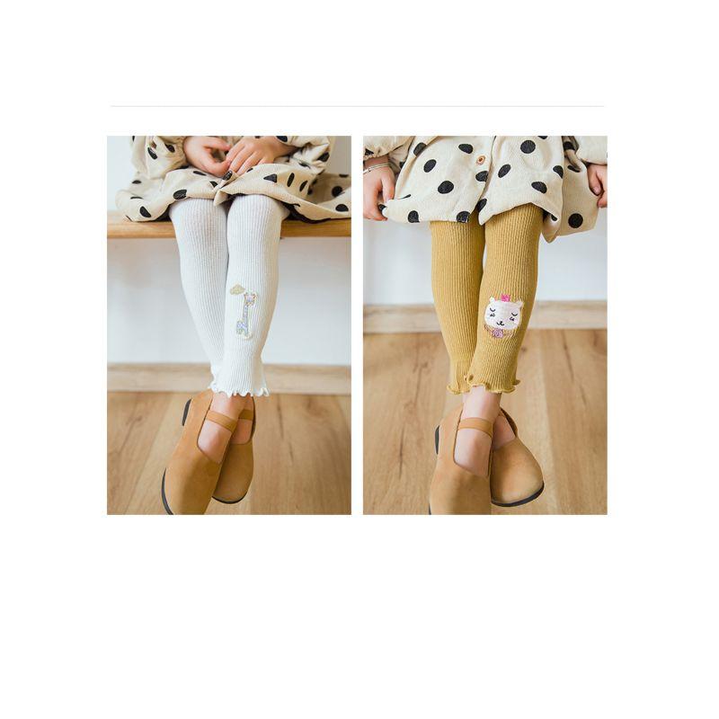 2-PACK Mixed Animal Design Infant Little Girl Tights Leggings Pants