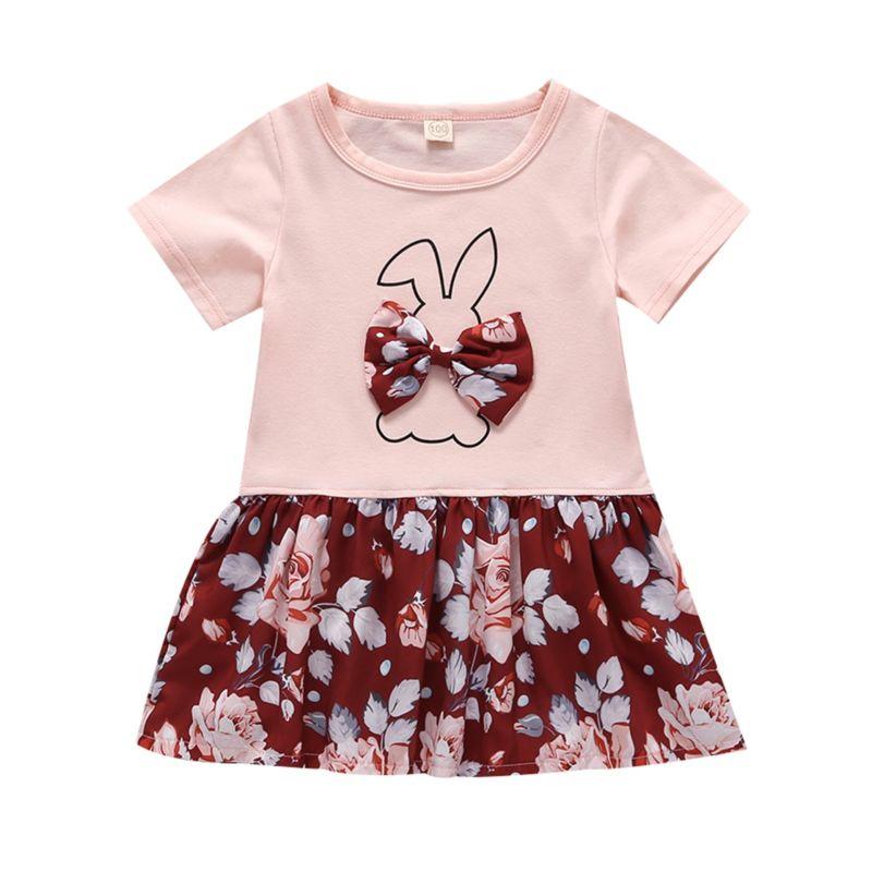Cute Bunny Flower Infant Toddler Summer Dress