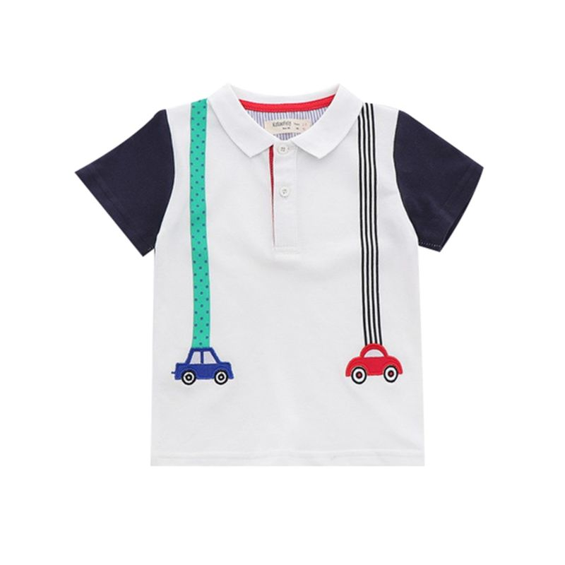 5-PACK Color Blocking Car Boys Polo T-shirt