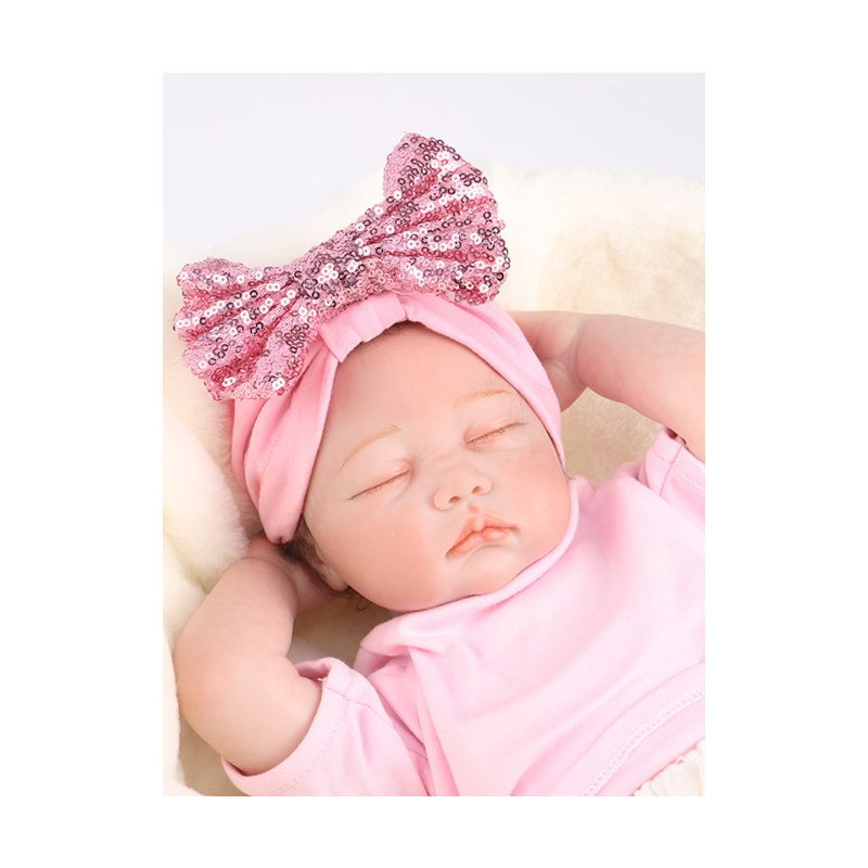5-PACK Sequins Bow Trimmed Baby Little Girl Wrap Hat