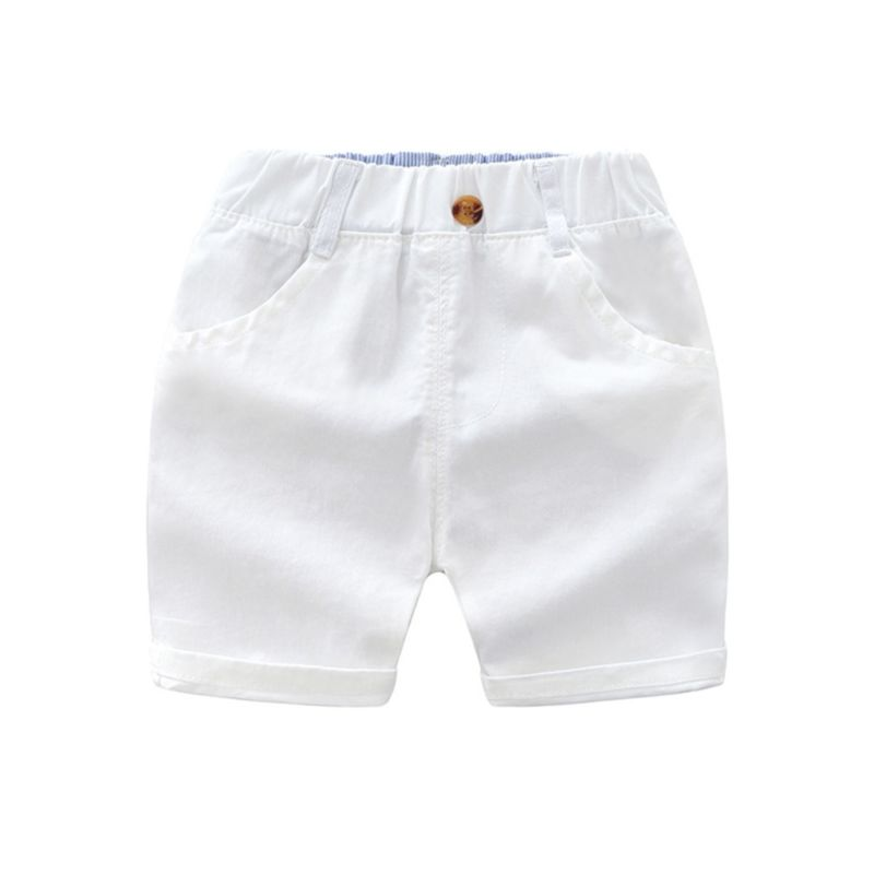 Classic Solid Color Toddler Little Boy Shorts