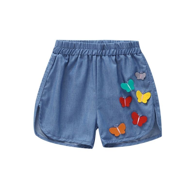 Butterfly Trimmed Baby Little Girl Shorts