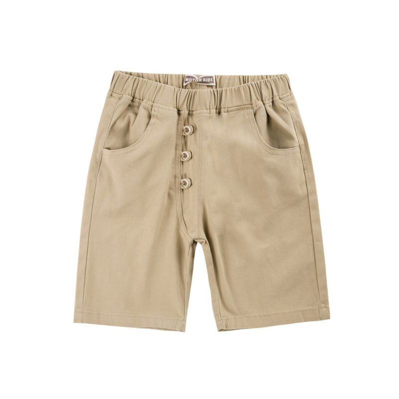 Solid Color Buttoned Toddler Big Boy Shorts