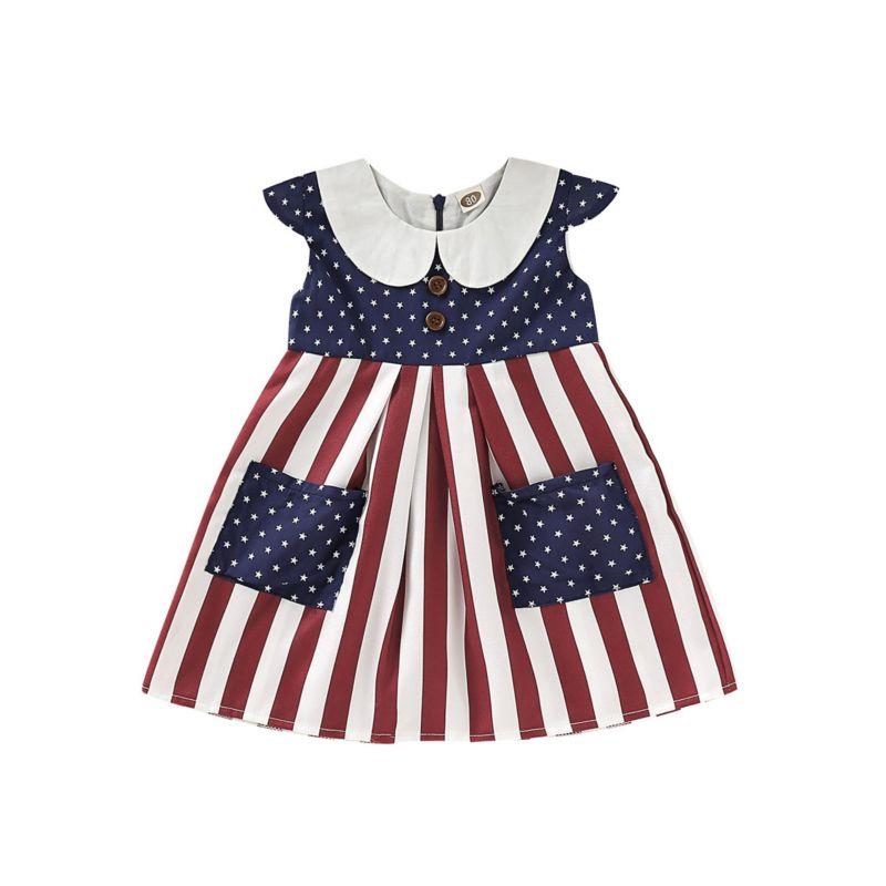 Peter Pan Collar Fourth Of July Dress
