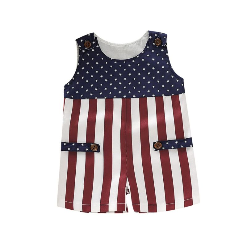 4TH OF JULY Baby Jumpsuit