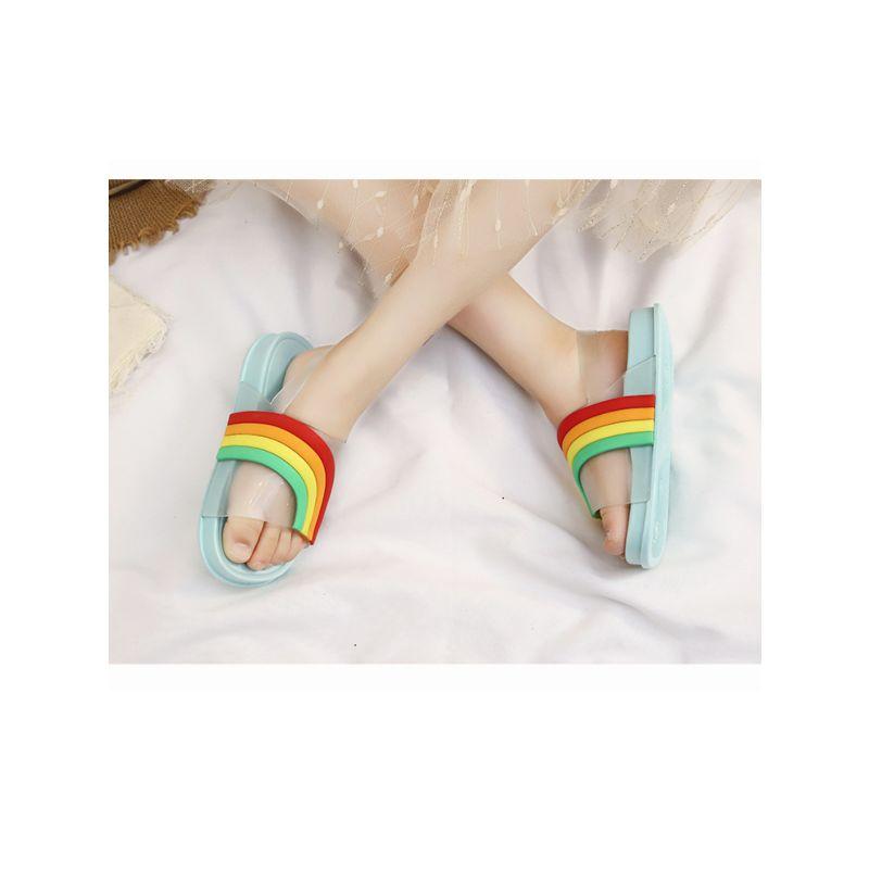 Kids Rainbow Pattern Sandals Rain Shoes