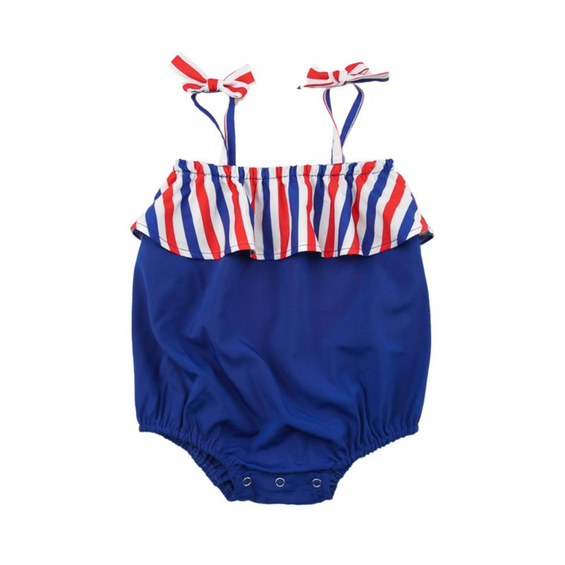 4TH OF JULY Tie Baby Playsuit