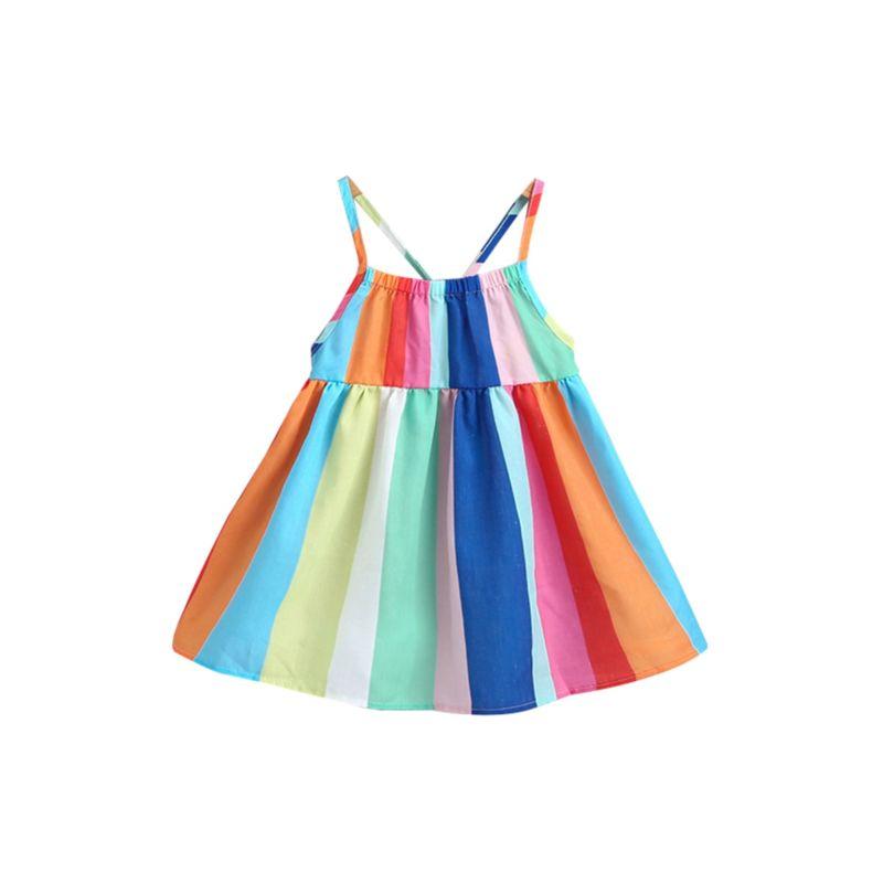 Toddler Little Girl Rainbow Color Sundress
